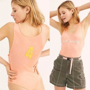 "NEW Free People ""Just Peachy"" Bodysuit S"